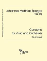 Johann Matth. Sperger | Concerto für Viola und Orchester  in D (Es)